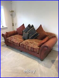 Tetrad Eastwood Grande & Midi Buffalo Leather Sofas & Wing Chair With Cushions