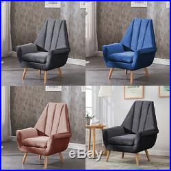 Tulip Shape Wing Back Occasional Lounge Chair Tub Armchair Living Fireside Sofa