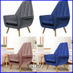 Tulip Shaped Oyster Back Cocktail Chair Wing Armchair Lounge Living Bedroom Sofa