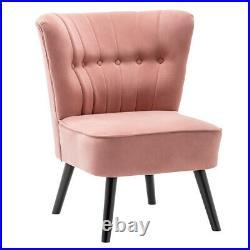 Upholstered Cocktail Wing Back Armchair Tub Chair Single Sofa Cafe Chair Lounge