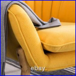 Upholstered Fabric Armchair Oyster Wing Back Tub Chair Living Room Lounge Sofa