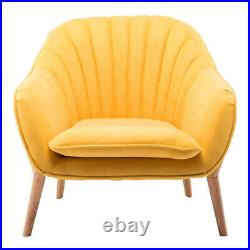 Upholstered Fabric Oyster Wing Back Armchair Soft Lounge Tub Chair Sofa Fireside