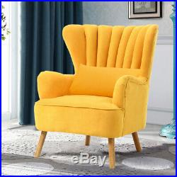 Upholstered Nordic Fabric Oyster Cocktail Wing High Back Tub Chair Armchair Sofa