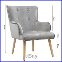 Upholstered Occasional Accent Buttoned Tub Chair Wing Back Armchair Dining Sofa