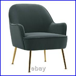 Velvet Oyster Scallop Shell Tub Chair Seat Armchair Wing Back Sofa Cafe Bedroom
