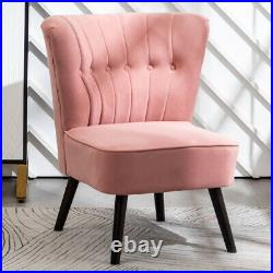 Velvet Scallop Shell Wing Back Accent Chair Armchair Vanity Bedroom Lounge Sofa