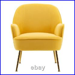 Velvet Tub Armchair Wing Back Single Sofa Upholstered Seat Cuddle Chairs Bedroom