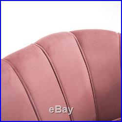 Velvet Tufted Wing Back Quilted Armchair 2 Seater Sofa Couch Upholstered Chair