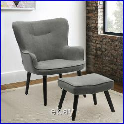 Velvet Upholstered Occasional Lounge Chair Teddy Seat Armchair Sofa Wing Back