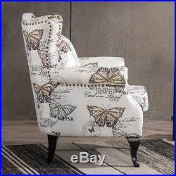 Vintage High Wing Back Armchairs Nailhead Club Chairs Living Room Reception Sofa