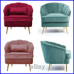Vintage Wing Back Armchair Shell Chair Cocktail Tub Sofa Lounge Occasional Chair