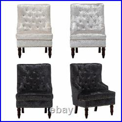 Wing Back Armchair Occasional Accent Chair Bedroom Lounge Sofa Button Studded