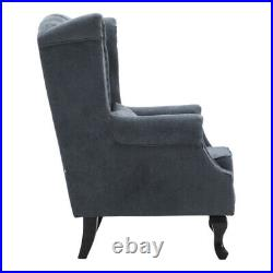 Wing Back Armchair Sofa Tall Back Livingroom Home Office Guest Chair Padded Sofa