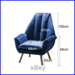 Wing Back Chair Armchair Chesterfield Lounge Sofa Cushioned High Backrest Velvet