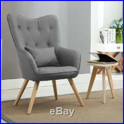 Wing Back Chair Oyster Sofa Button Tub Scalloped High Back Armchair or Footstool