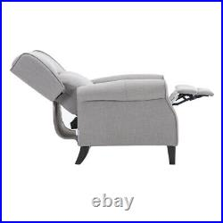 Wing Back Fabric Recliner Armchair Lounger Sleep Sofa Chair Bedroom Cinemo Seat