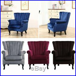 Wing Back Fireside Fabric Occasional Armchair Seat Sofa Lounge Cinema Chair UK