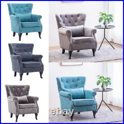 Wing Back Living Room Accent Chairs Soft Padded Reception Large Seat Sofa Chairs