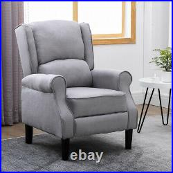 Wing Back Recliner Soft Armchair Sofas Fireside Lounge Chairs Home Living Room