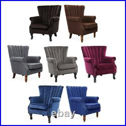 Wing Back Reclining Chair Modern Living Room Armchair Sofa Couch Lounge Chair UK