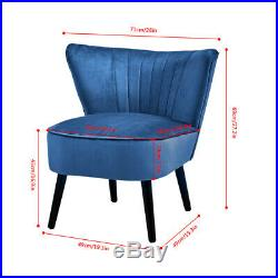 Wing Back Single Sofa Chair Dressing Chair Padded Seat Home Living Room Bedroom