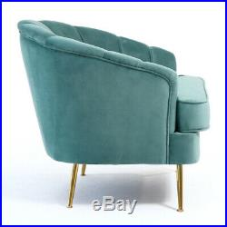 Wing Backrest Velvet Armchair Chesterfield Style Chair Sofa Lounge Accent Royal