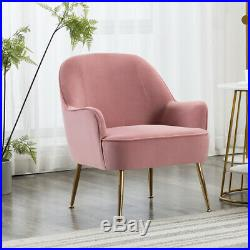 Wingback Armchair Velvet Wing Chair Occasional Bedroom Living Room Leisure Sofa